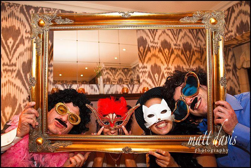 Picture frame as fun wedding prop
