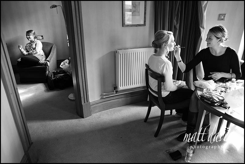 wedding make-up at Birtsmorton Court