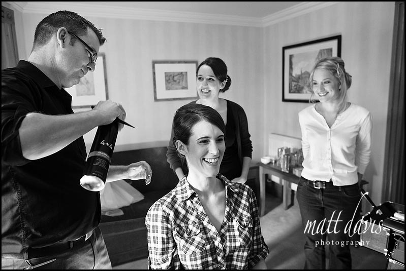 Chris Fordham wedding hair stylist