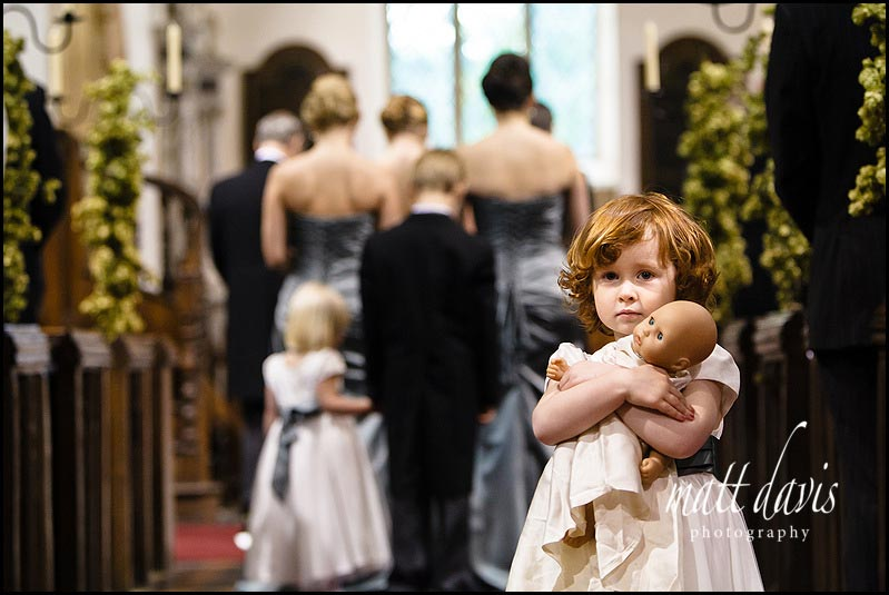 Flower girl at Birtsmorton Church