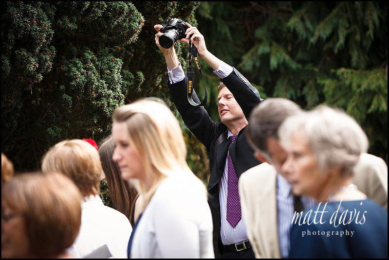 wedding guest taking photo
