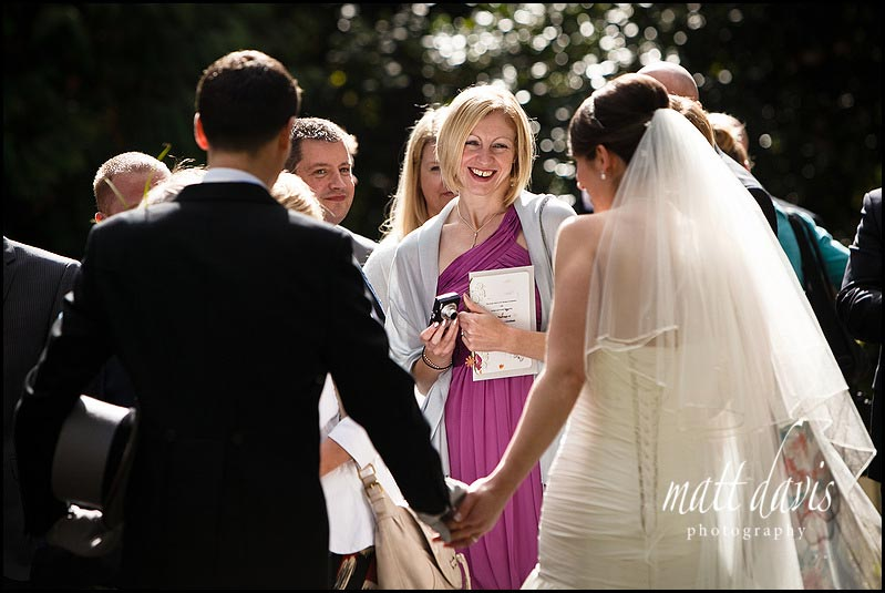 wedding guests at Birtsmorton Church
