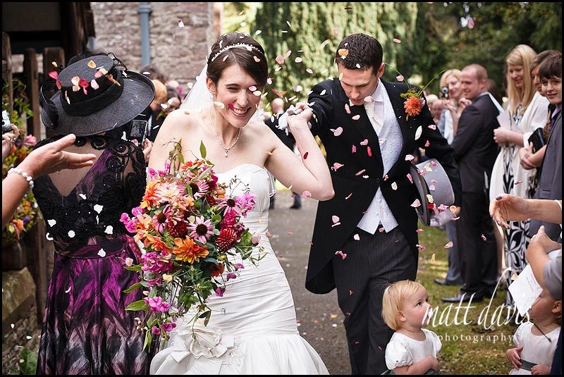 confetti photo at Birtsmorton Court