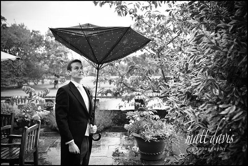 rain at Birtsmorton Court wedding