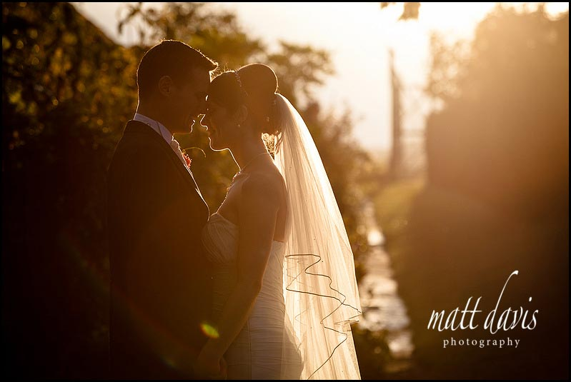 sunset Birtsmorton Court wedding photos