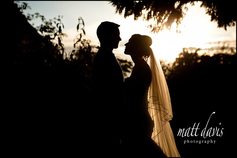 silhouette Birtsmorton Court wedding photos