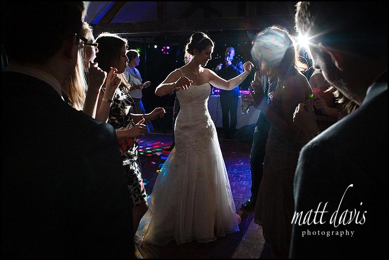 Bride on dance floor at Birtsmorton Court