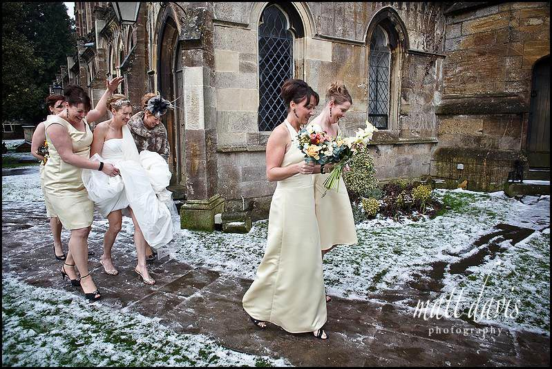 Bride arriving at St Mary the Virgin Tetbury Church