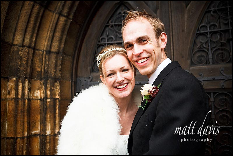 Wedding portraits at St Mary the Virgin Church Tetbury