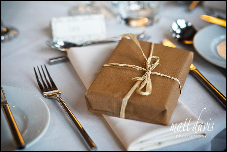 Vintage style winter wedding decorations at Chavenage