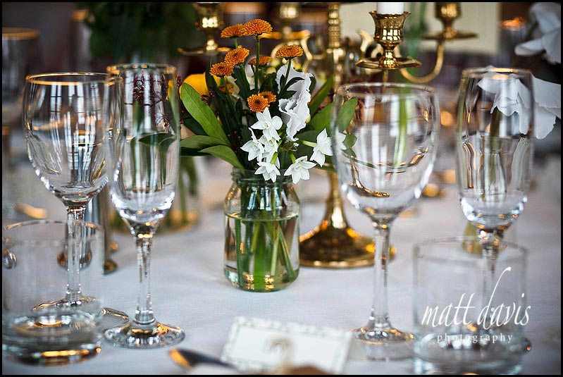 Vintage style winter wedding decorations