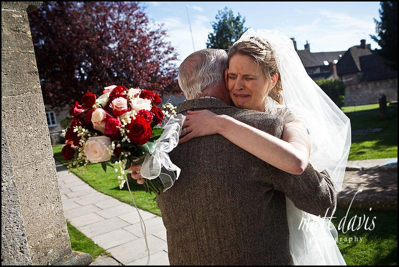bride hugging grand parents