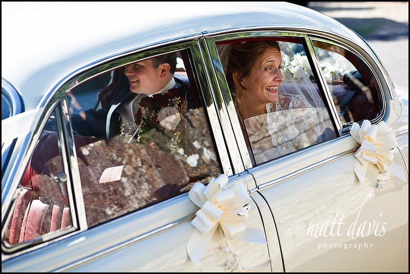 Chavenage House wedding photography car