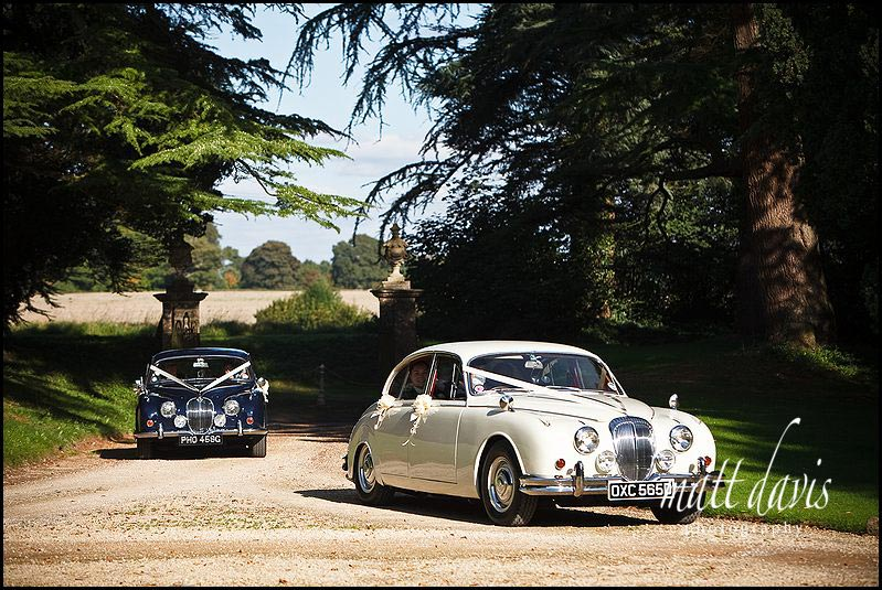 Chavenage House wedding photography of cars arriving
