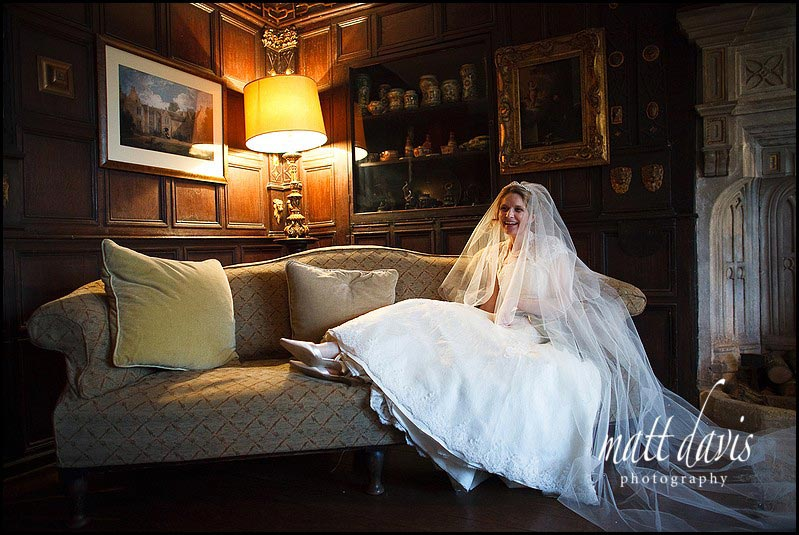 Chavenage House wedding photography of bride