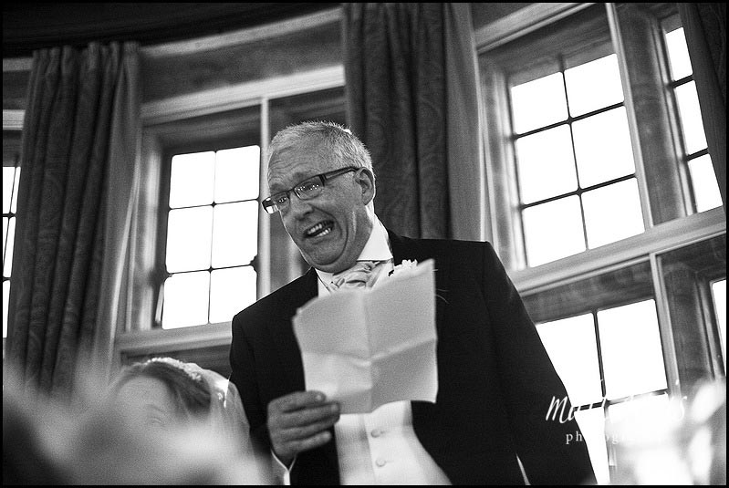 Chavenage House wedding speeches