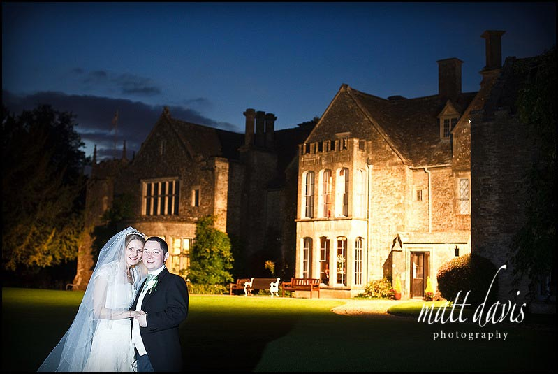 Chavenage House wedding photography at night