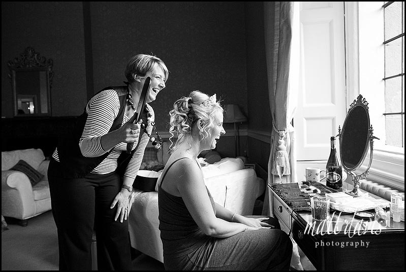 Wedding hair and make-up Clearwell Castle