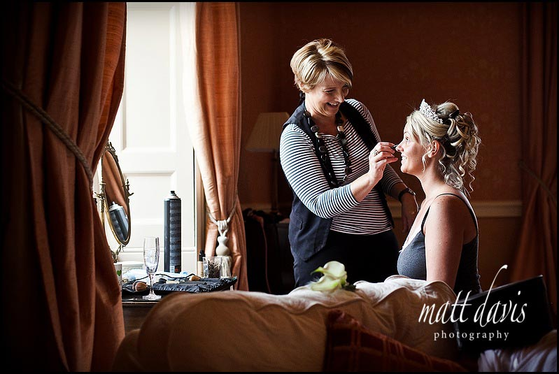 Wedding hair and make-up at Clearwell Castle