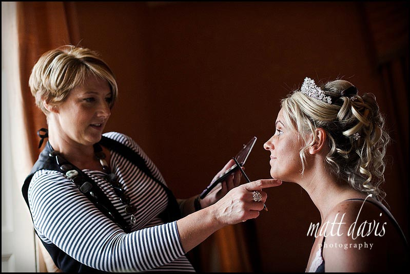 Wedding make-up Clearwell Castle