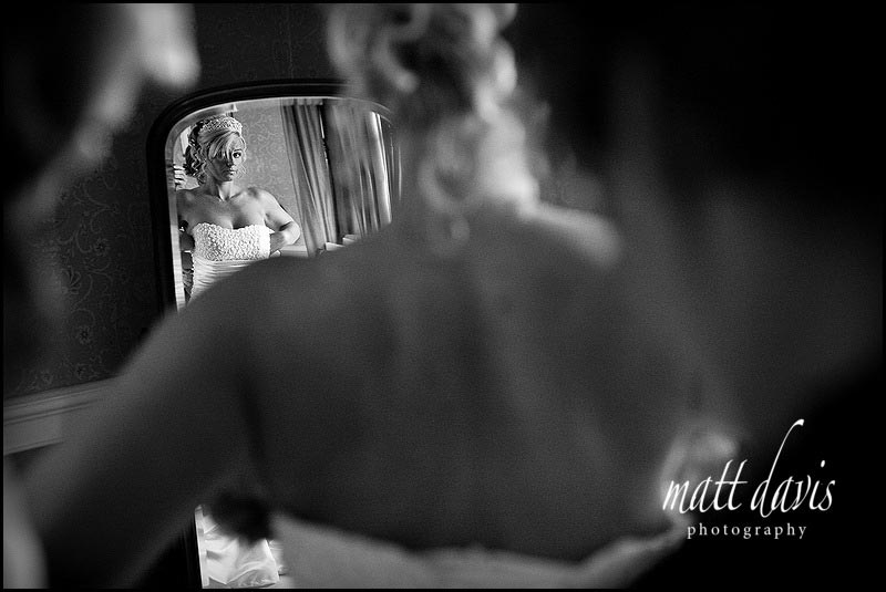 Clearwell castle wedding photos in the bridal suite