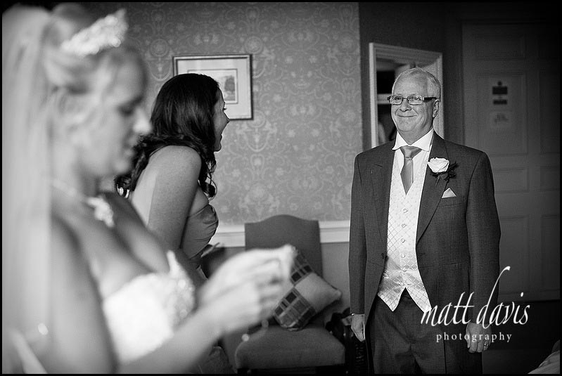 Proud father at Clearwell castle wedding