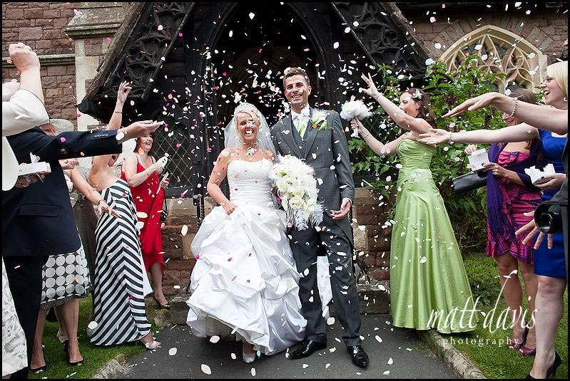 confetti thrown at St. Peter's Church Clearwell