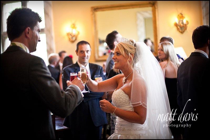 Clearwell Castle wedding reception photo