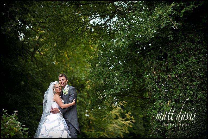 Clearwell Castle wedding photography of bride and groom