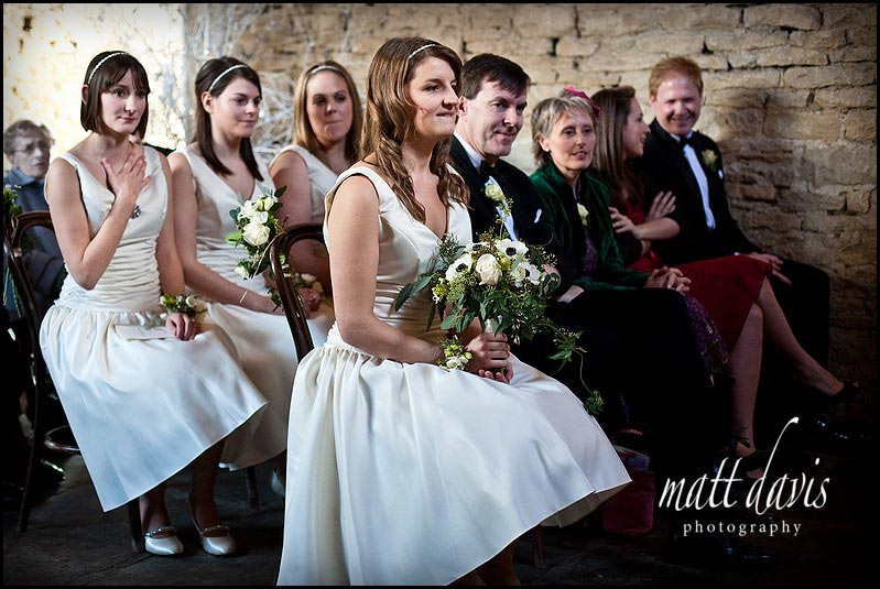 Wedding photos inside Cripps Barn