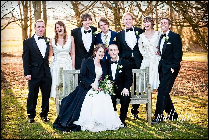 Cripps barn wedding photos in winter