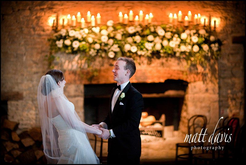 Cripps barn wedding couple