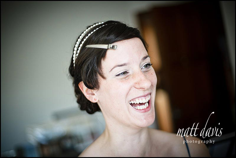 Bride with big smile