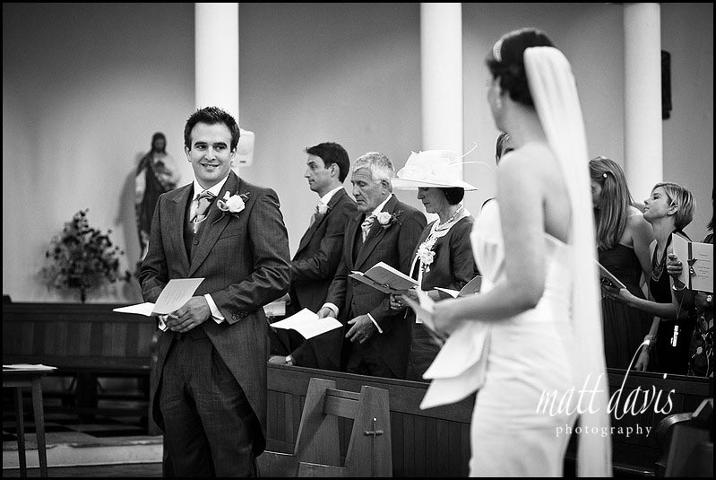 Groom in church in Shropshire