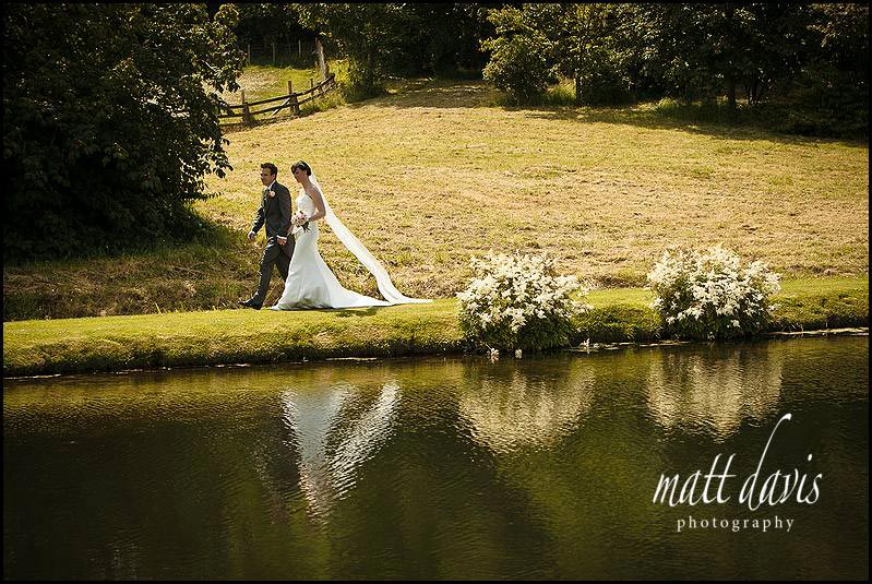 Delbury Hall wedding photos over the pond