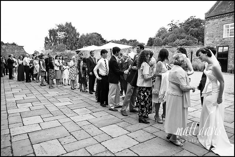 Receiving line at Delbury Hall wedding