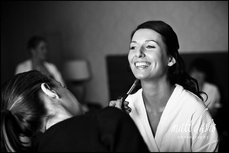 Dumbleton Hall wedding make-up photo