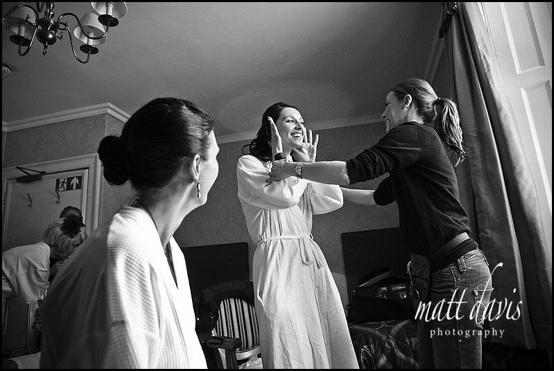 wedding make-up at Dumbleton Hall