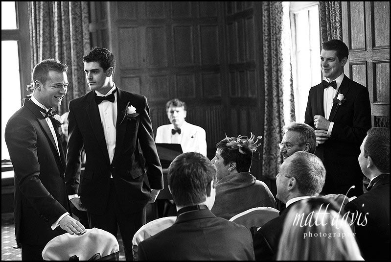 Groom at Dumbleton Hall wedding ceremony