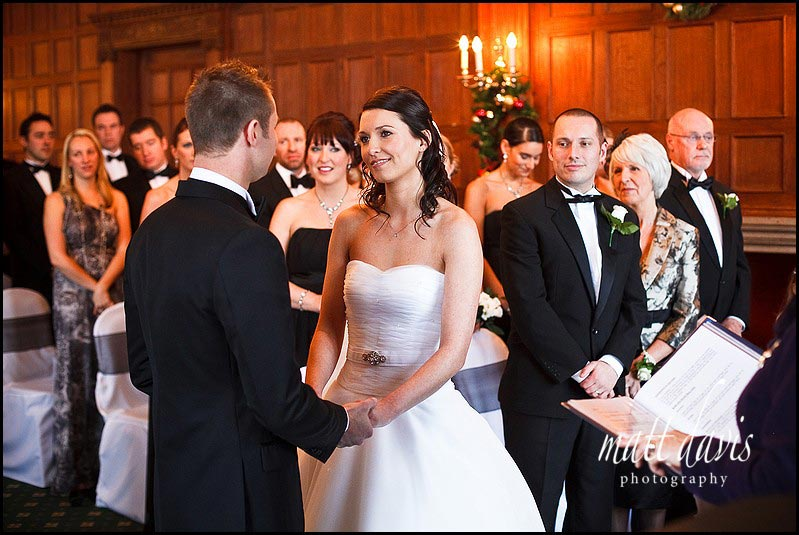 Dumbleton Hall winter wedding photos inside the main room