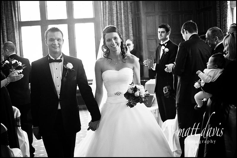 Dumbleton Hall winter wedding photography