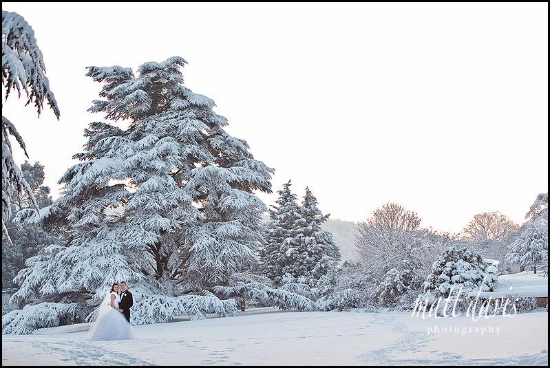 Dumbleton Hall winter wonderland wedding