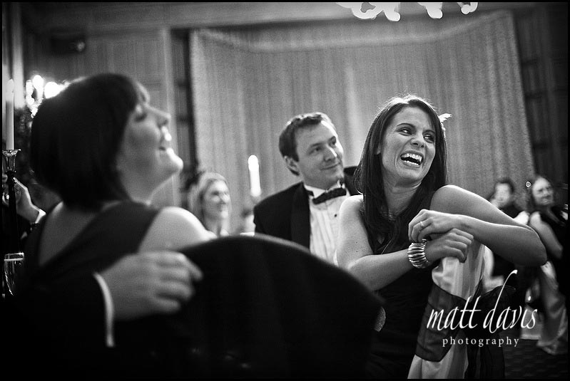 Dumbleton hall wedding guests during speeches
