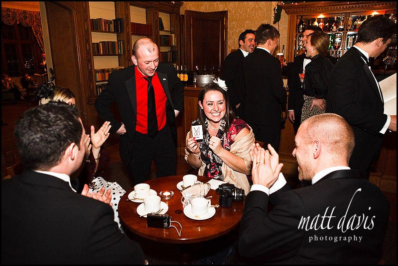 Magician entertaining guests at Dumbleton Hall