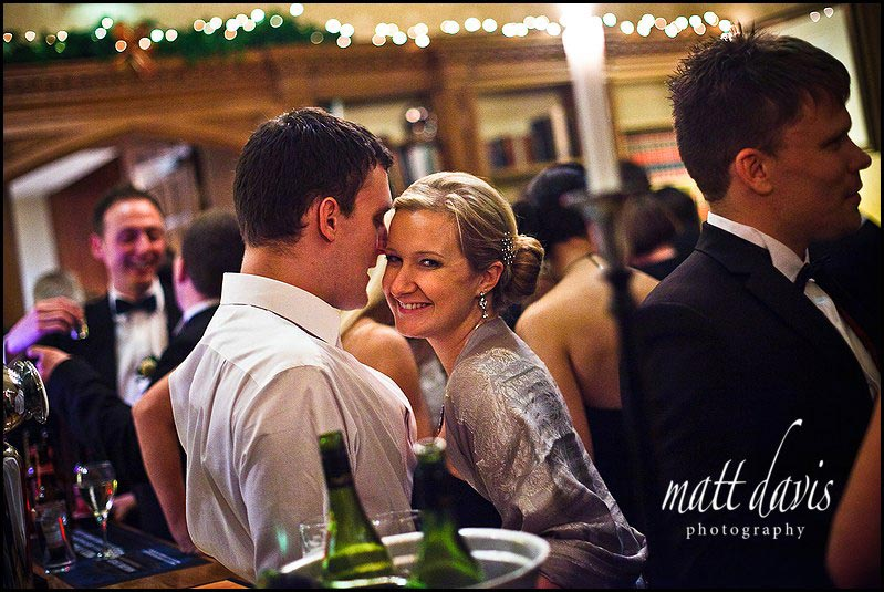 Drinks reception at Dumbleton hall wedding