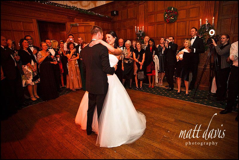 Dance floor at Dumbleton hall wedding