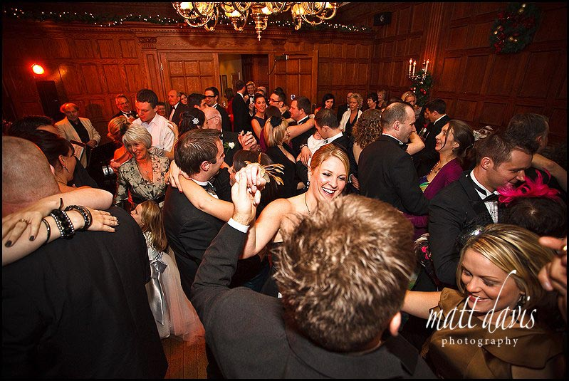 a packed Dance floor photo at Dumbleton hall wedding