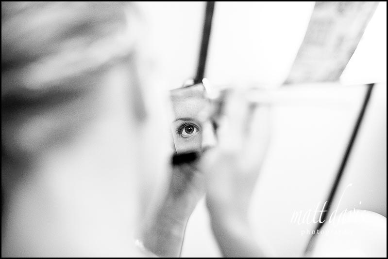 Photo of brides eye during whilst doing wedding make-up