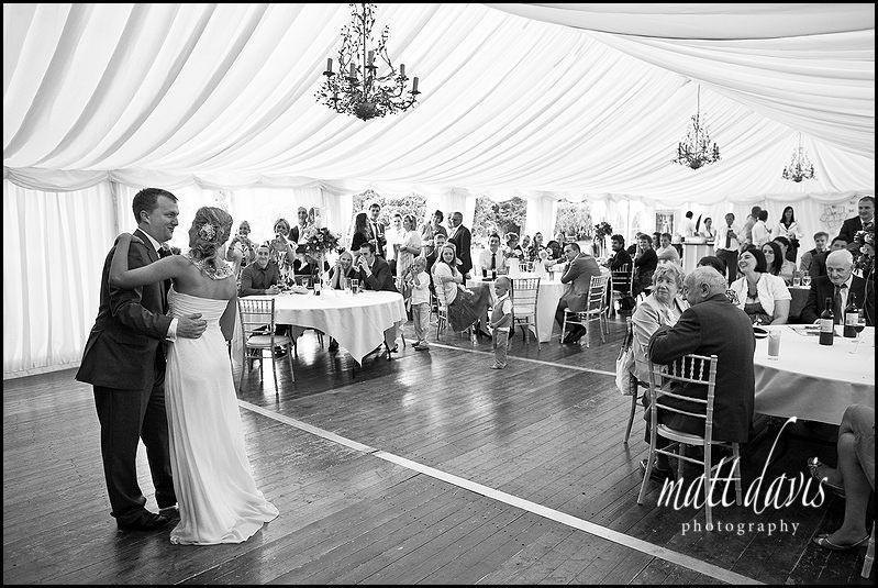 Friars Court wedding dancefloor in marquee