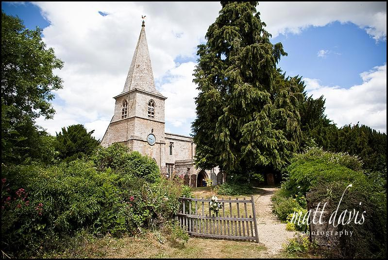 St Mary's Church, Swerford, Oxfordshire before the wedding